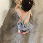 Salopette enfant grise