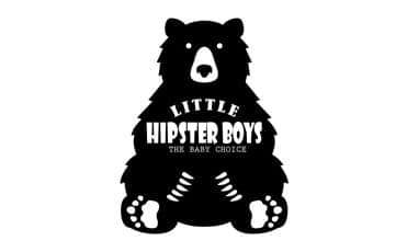 Little hipster boys logo