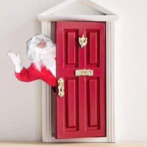 Lanterne lettre Père-Noël + porte magique petit lutin de noël, petite souris, petite fée - Quenottes & Paillettes