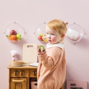 Duo de casiers muraux bulle de bonheur Small cristal translucide - Koziol