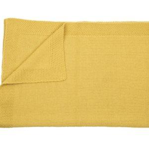Couverture personalisée en alpaga jaune - Mamy Factory Paris