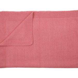 Couverture personalisée en alpaga bleu rose bonbon - Mamy Factory Paris