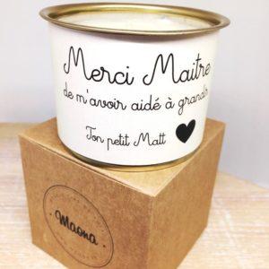 Bougie Merci Maitre - Maona