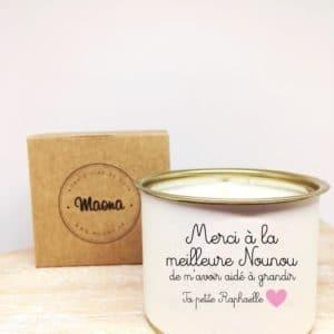 Bougie Merci Nounou - Maona