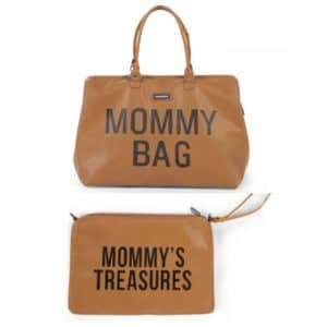 Duo Mommy bag + Pochette Mommy's treasures clutch Camel  - Childhome