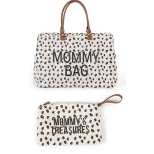 Duo Mommy bag + Pochette Mommy's treasures clutch Léopard - Childhome