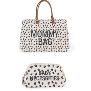 Duo Mommy bag + Trousse de toilette Baby Necessities Léopard - Childhome
