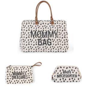 Trio Mommy bag + Pochette Mommy's treasures + Trousse de toilette Baby Necessities Léopard - Childhome