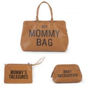 Trio Mommy bag + Pochette Mommy's treasures + Trousse de toilette Baby Necessities Camel - Childhome