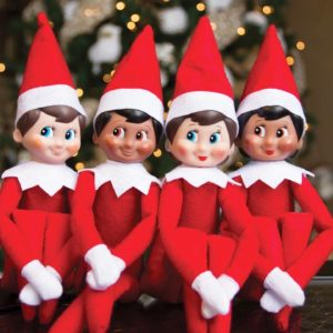 The Elf ou Elfie on the shelf