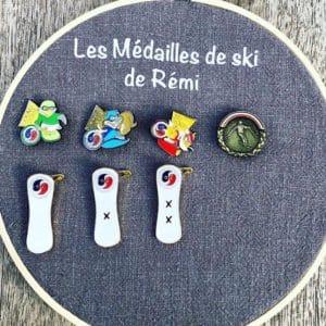 Cadre médailles de ski/snow/surf