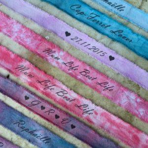 Bracelet porte-bonheur Tie and Dye personnalisable
