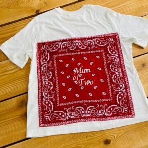 Tee shirt bandana brodé personnalisé