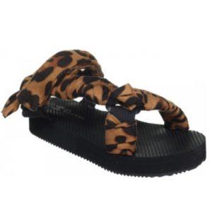 Sandales bandana léopard - Happy Feet