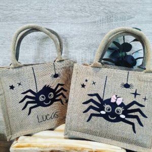 Petit sac Halloween Spider personnalisé
