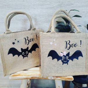 Petit sac Halloween Bat personnalisé